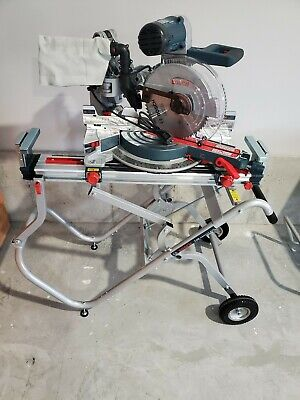 Bosch GCM12SD 12 Inch Axial Dual Bevel Glide Miter Saw Blade with Gravity Stand
