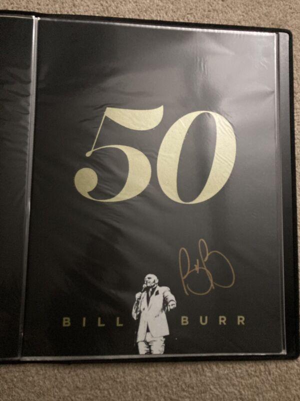 BILL BURR SIGNED 50 TOUR POSTER AUTO AUTOGRAPH GOLD SIGNATURE 18x24
