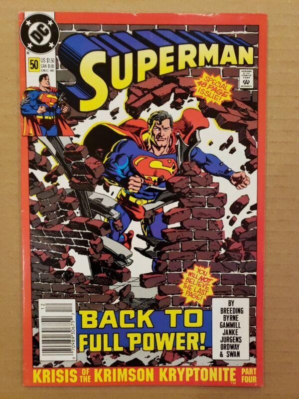Superman #50 Newsstand VF/NM