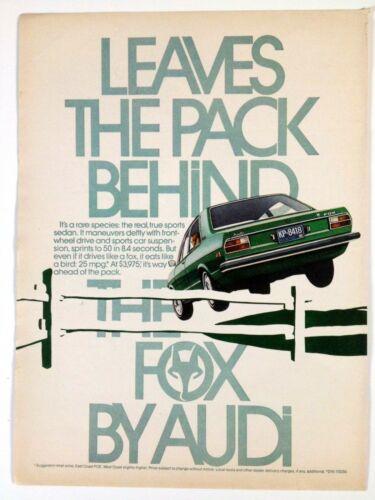 1975 Audi Fox Vintage Print Ad