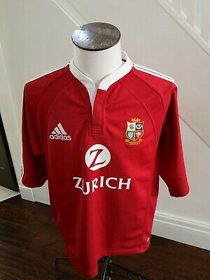 Adidas British & Irish Lions Rugby Shirt/Jersey New Zealand Tour 2005 Red XXL