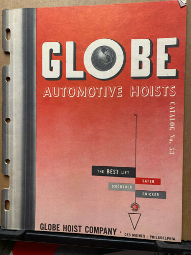 Vtg Globe Hoist Company Catalog Automotive Lifts 1950
