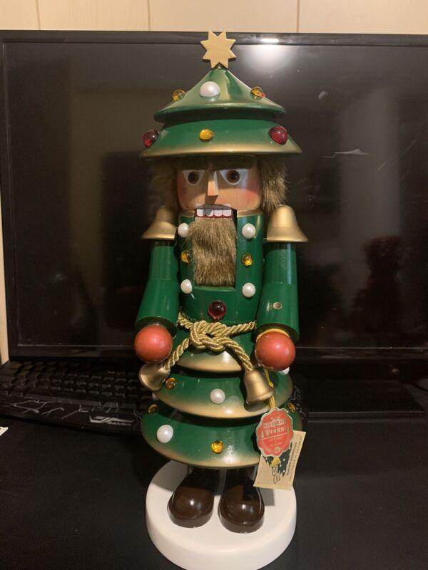 "STEINBACH 17"" CHRISTMAS TREE NUTCRACKER MADE IN GERMANY ( Read Description)"