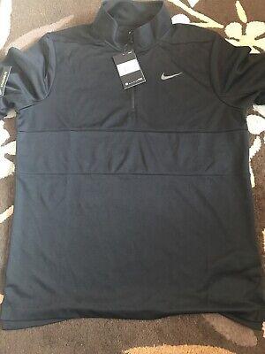 New Black Nike 1/4 Zip Medium Golf Jumper