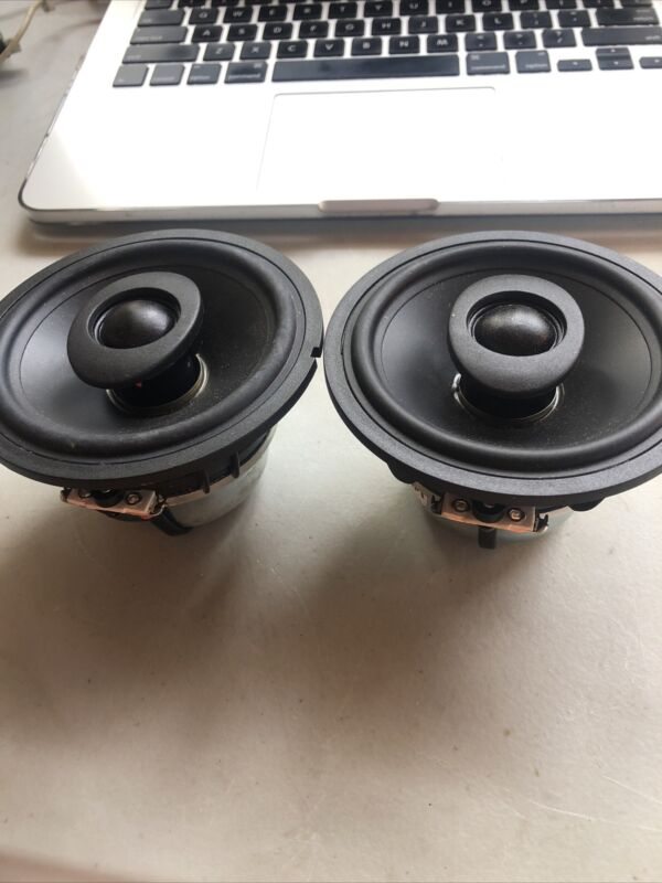 """2 Vifa A10CC-07 4"""" 2-way Speakers 4"""" Woofers Dome Tweeter Specs in Desc.  Nice!"""