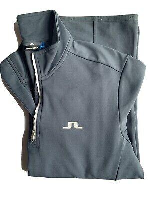 J Lindeberg Mens Kimball Half-Zip Midlayer Jumper- Large - Grey