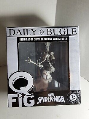 Marvel Spider-Man Web-Slinger - Q-Fig - Daily Bugle - Loot Crate Exclusive NIB