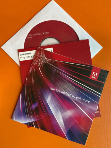 Adobe Acrobat X Professional For Windows Open Box Never Been Used