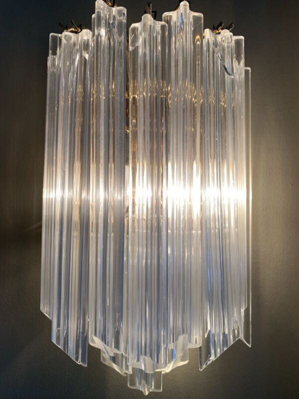 2 pieces of mid century Camer Murano  Venini Sconce CHANDELIERS
