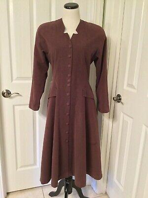 Christmas Caroler Costume (Vintage Dickens Christmas Caroler Victorian Pioneer Woman Costume Basic Dress)