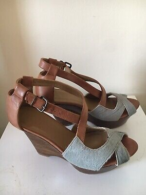 Hoss Intropia Strappy Wedges - Size Women's UK 6. RRP £209