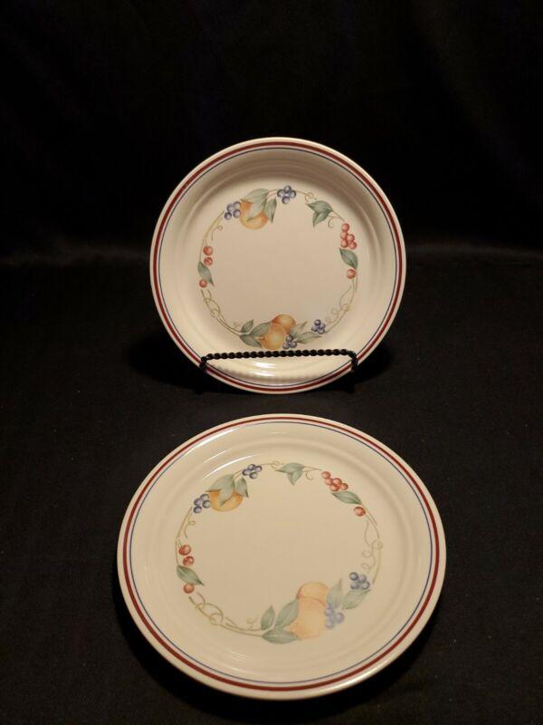 "Set of 2 Corning Corelle Abundance 8 1/2"" Luncheon/Salad/Bread Plates"