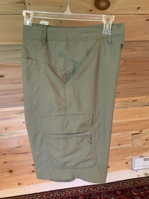REI Surplus Green Nylon Cargo Shorts Camping Hiking Women