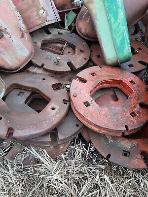 Pair Of International Harvester Hm Tractor 1 Piece Rear Wheel Weights