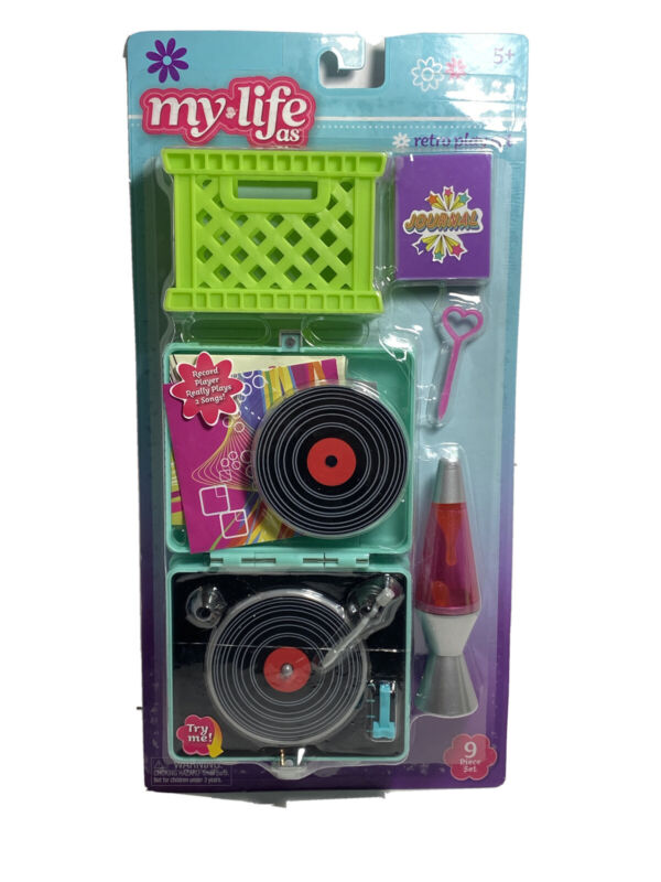 My Life As All American Girl Doll Retro Play Set, Record Player, Lava Lamp W3