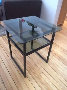 Glass side table - 50x50 cm