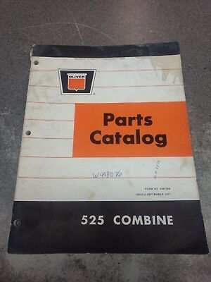 Oliver 525 Combine Parts Manual W448076