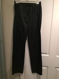Black leather pants from Daniel
