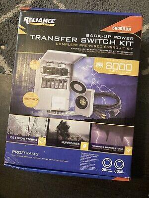 Reliance Controls Backup Power Transfer Switch Kit 3006hdk