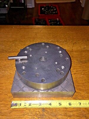 Edm Spinning Plate Fixture With Locking Pin Diameter 6 Plate 6 14 X 6 14