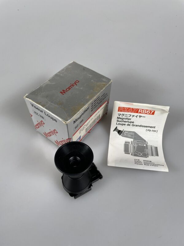 MINT in Box Mamiya Magnifier FD701 for RB67 RZ67 Prism Finder