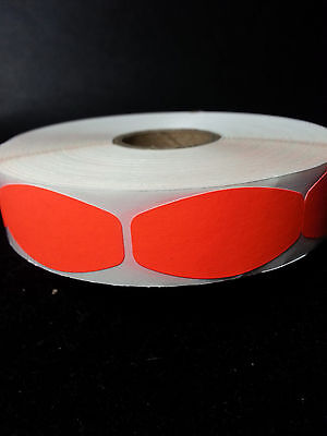 """1.25"""" x .625"""" FL RED BLANK LABELS 1000 ea/ ROLL free shipping STICKERS"""