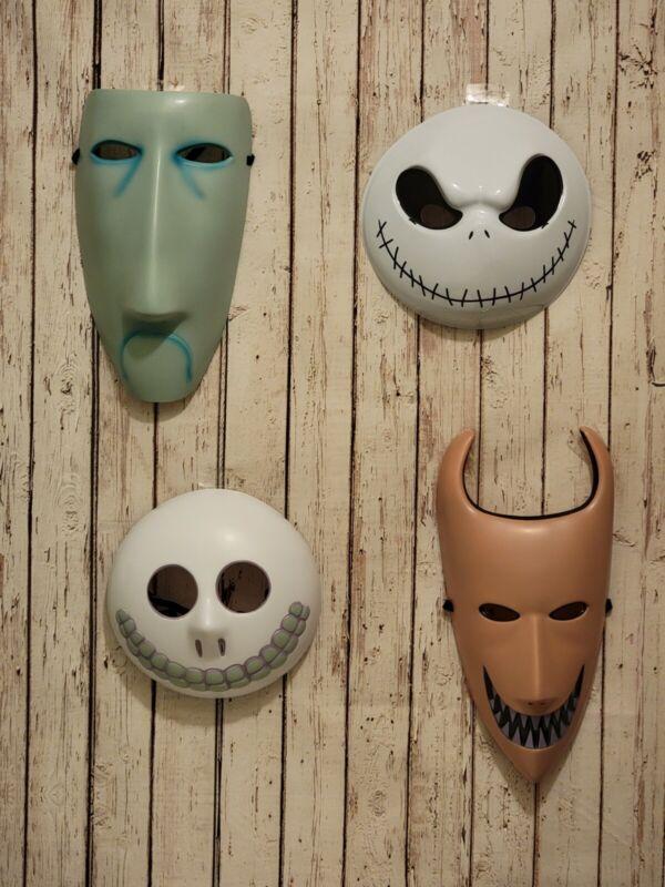 Nightmare Before Christmas Cosplay Halloween Masks Lock Shock Barrel & Jack NWT