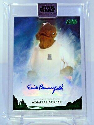 2018 Star Wars Stellar Erik Bauersfeld Admiral Ackbar Autograph Card 18/20 GREEN
