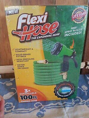 Flexi Hose 100ft Expanding Hose w/ Spray Nozzle