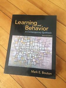 Learning and Behaviour 2nd Ed. By Bouton. Perfect condition!