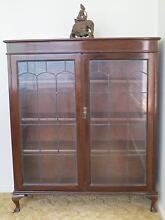 GLASS MAHOGANY DISPLAY CABINET Red Hill South Canberra Preview