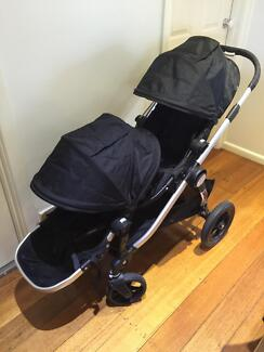 Baby jogger city select double pram with bassinet Airport West Moonee Valley Preview