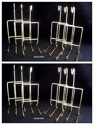 Brass Cup & Saucer Stand ((12) Cup & Saucer Stand Brass SMOOTH Wire Display Tripar 23-2450 LOT of 12 )
