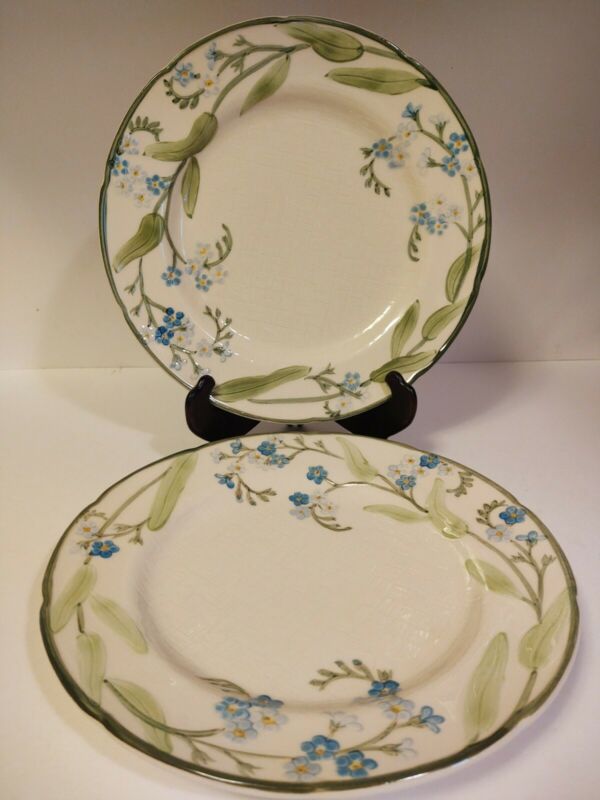 Franciscan USA FORGET-ME-NOT 2 Dinner Plates 10 1/2""