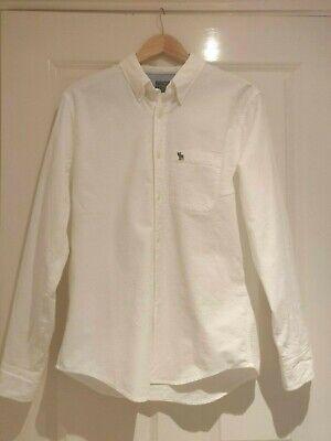 Abercrombie & Fitch  Mens Icon Oxford Shirt White RRP: £50.00 SIZE MEDIUM
