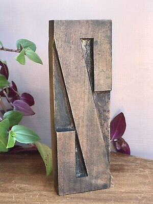 Rare Vintage Letterpress Wood Block Letter Double Sided Z O Type 6 38 Tall