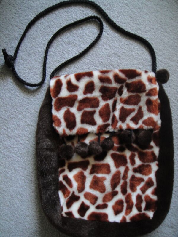 Giraffe Patterned Cloth Plush Bag