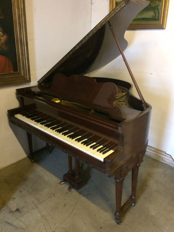 Beautiful Ornate Steck Baby Grand Piano . Delivery Available.