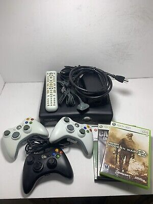 Microsoft Xbox 360 S Launch Edition 250GB Black Console With 3 Games!