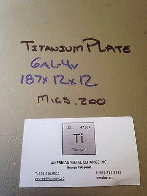 Titanium Sheet 6al-4v .187 X 12 X 12