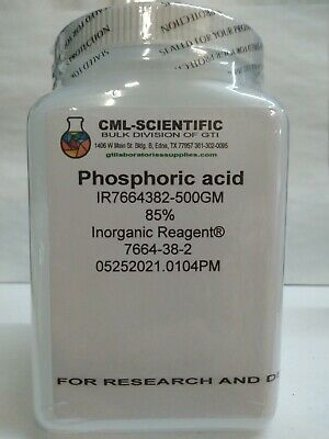 Phosphoric Acid 85 Inorganic Reagent 500g