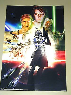 "Star Wars Clone Wars WALL POSTER 15.25""x21.75""_CAPTAIN REX & starring characters"