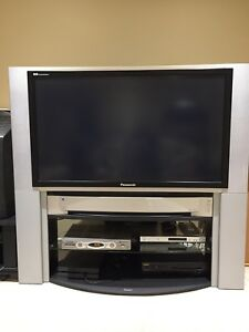 "50"" Panasonic DLP TV and stand"