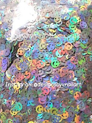 SMILEY FACE SHAPE ultra thin BODY CRAFT EMOJI rainbow  (Glitter Emoji)