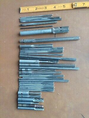 Lot Of 39 Vintage Machinists Tool Reamers Toolmaker Lathe