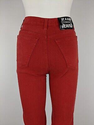 Iceberg Red Highwaisted Jeans UK4/6 Vintage