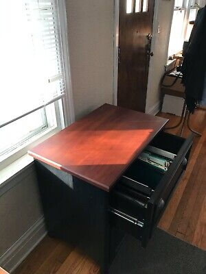 Wood Lateral File Cabinet Good Condition.
