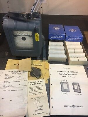 Vintage General Electric Type Cf-1 Portable Watt Hour Meter Recorder