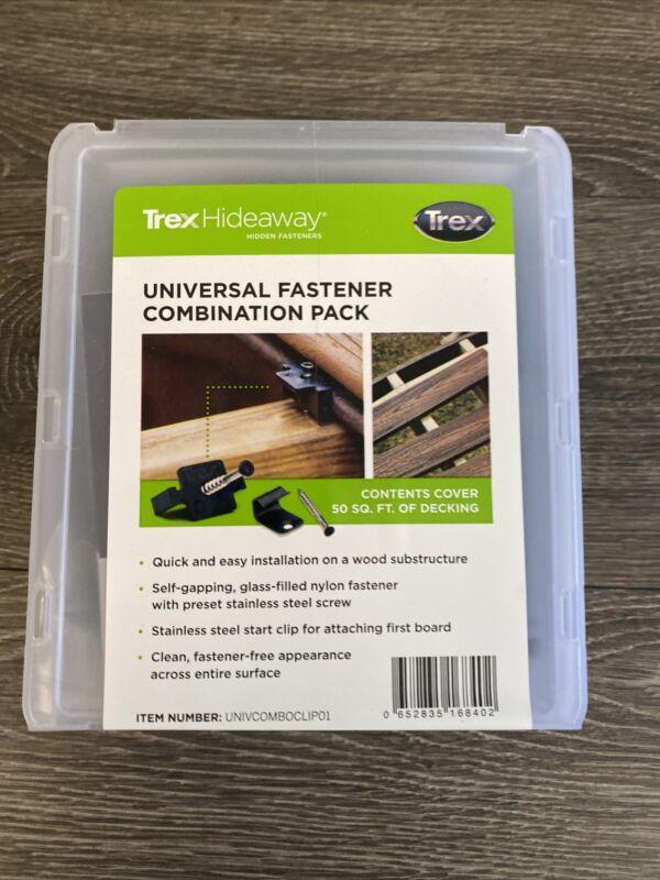 New Trex Hideaway Universal Fastener Combination Pack 50 Sq Ft Deck Hidden