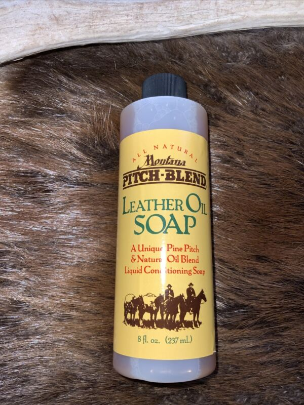 Montana Pitch Blend Leather Oil Soap, All Natural Leather Cleaner 8 Ounce